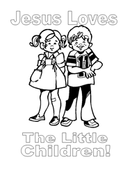 Free Bible Coloring Pages - God Loves Children
