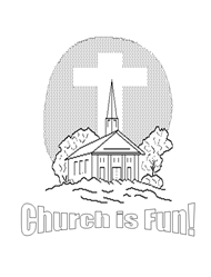 Free Bible Coloring Pages - Church