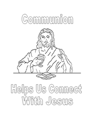 Free Bible Coloring Pages - Communion