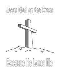 Free Bible Coloring Pages - Cross
