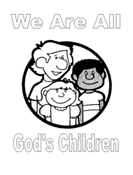 Free Bible Coloring Pages - God's Children