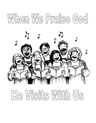 Free Bible Coloring Pages - Praise