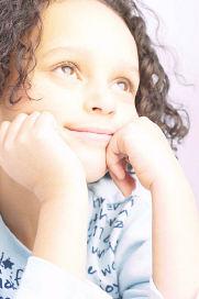 Children's Bible Activities girl daydreaming