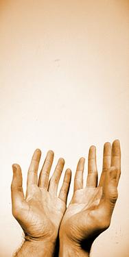 Christian Meditations: Praying Hands Receiving