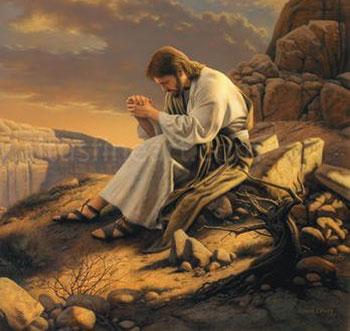 Christian Fasting: Jesus Praying in the Desert