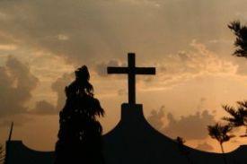 Choosing Faith or Fear - Cross at Dusk