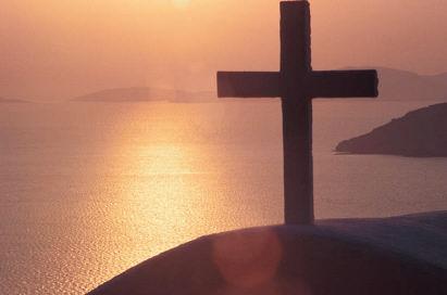 Bible scripture study fruits of the spirit cross sunset