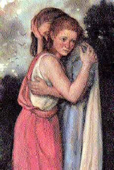 Naomi Bible Study-Ruth and Naomi Hugging