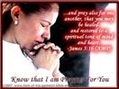Prayer Christian Ecard- Woman praying