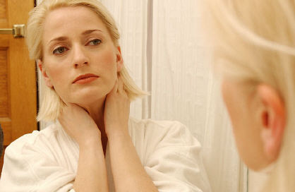 9 fruits of the Spirit self-control woman looking in the mirror