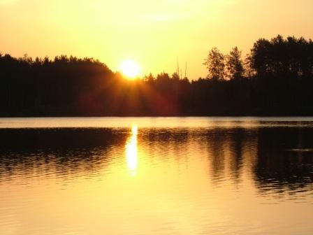 receiving the Holy spirit golden sunrise