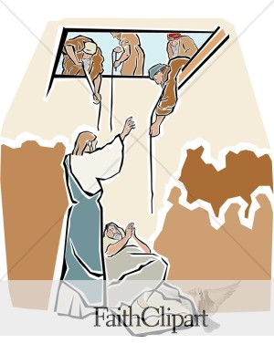 Jesus Healing The Paralytic Man