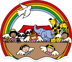 Children's Bible story noah's ark clip art