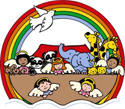 Children's Bible story noah's ark clip art